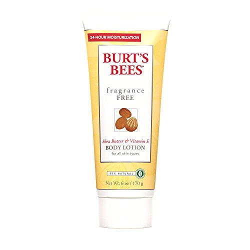Burt's Bees Fragrance Free Shea Butter & Vitamin E Body Lotion, 6 Ounces (Pack Of 3)