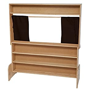 Natural Environments WD21651BN Markerboard Puppet Theater w/Brown Curtains from Wood Designs Co.