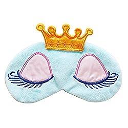 Imported Cartoon Long Eyelash Sleeping Beauty Crown Sleeping Eye Mask Eyeshade Blue