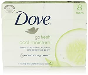Dove Bar Soap, Cool Moisture, 8 Count
