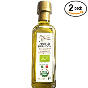 Profumi Umbri 100% Organic Porcino Mushroom Olive Oil Dressing, 3.38-Ounce (Pack of 2)