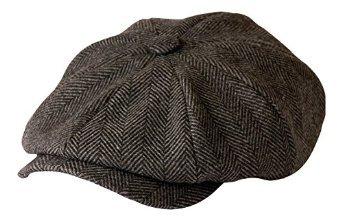 shelby-gt500-newsboy-gorra-de-gamuza-de-color-gris-herringbone-de-gamble-y-gunn-estilo-de-tv-de-peak