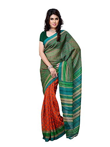 101cart Multi Color Art Silk Party Wear Saree