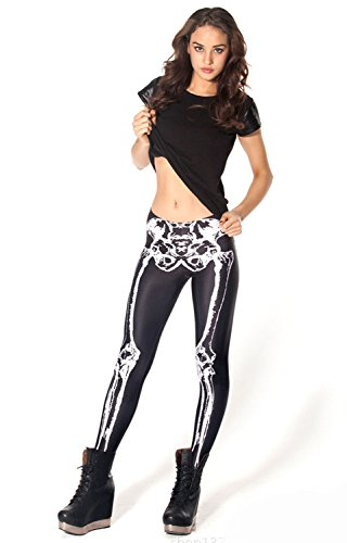 Women's Skeleton Spandex Leggings