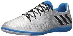 adidas Performance Men\'s Messi 16.3 in Soccer Shoe, Silver Metallic/Black/Shock Blue Silver, 6.5 M US