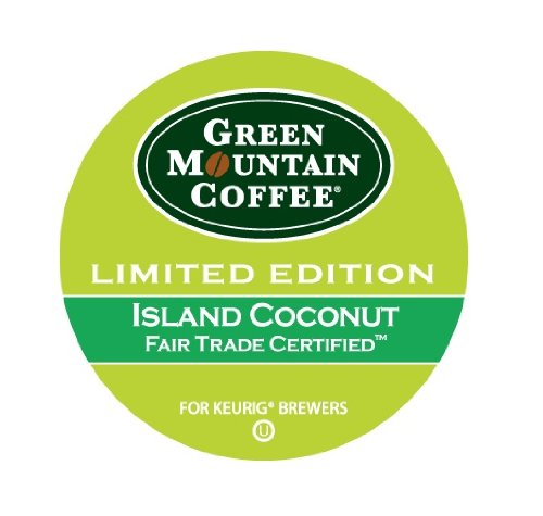 Green Mountain Coffee Island Coconut, K-Cup For Keurig Brewers, 24-Count (Pack Of 2)
