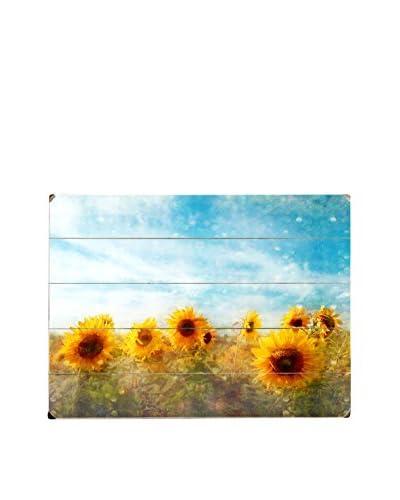 Sunflower Sky Wood Wall Décor