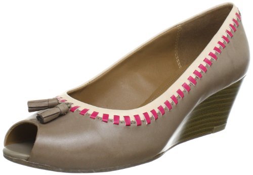 Clarks Dublin Whirl Peep-Toe Womens Brown Braun (Mushroom Leather) Size: 7.5 (41.5 EU)