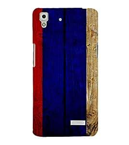 PrintVisa OPPOR7-Painted Wooden Pattern Plastic Back Cover for Oppo R7 (Multicolor)