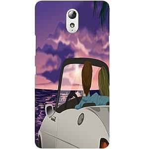 Casotec Evening On Beach Design Hard Back Case Cover for Lenovo Vibe P1M
