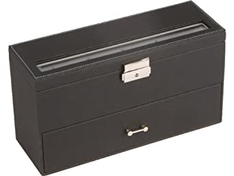 boite a bijoux homme cuir ecrin rangement coffret a montres bagues bijoux v tements. Black Bedroom Furniture Sets. Home Design Ideas