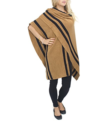jessica-mcclintock-striped-knit-cape-ruana-wrap-shawl-pashmina-poncho-camel-black
