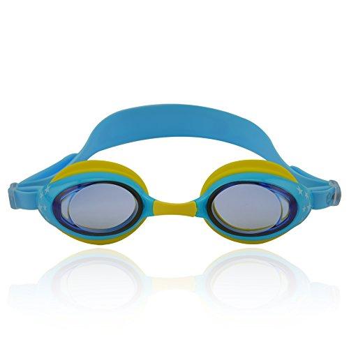 »Zippo« Kinder-Schwimmbrille / 100% UV-Schutz + Antibeschlag / Starkes Silikonband + stabile Box / Große Farbauswahl.