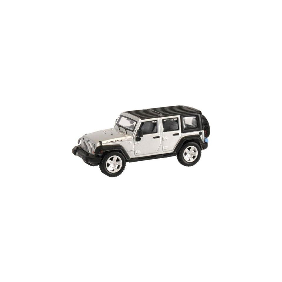 HO 2007 Jeep Wrangler 4 Door Unlimited (Silver) Atlas Trains