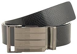 Jackblack Men's Leather Belt (SEVP002, Black, 36)