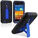 Premium Heavy Duty Hybrid Case (Outer Silicone + Durable Thick Inner Hard Protector Shell Case W/Kickstand)Galaxy S2 SPRINT EPIC TOUCH 4G (Model SGH D710)