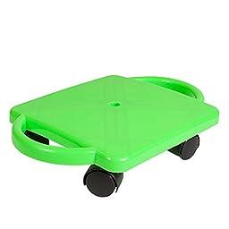 ETA hand2mind Neon Green Plastic Scooter with Handles