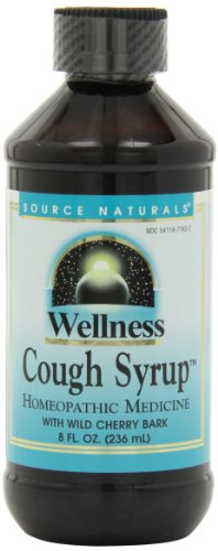 Source Naturals Wellness Cough Syrup with Wild Cherry Bark, Relieves Symptoms of Coughs Due to Colds and Flu, 8 Fluid Ounces (Natural Cough Syrup compare prices)