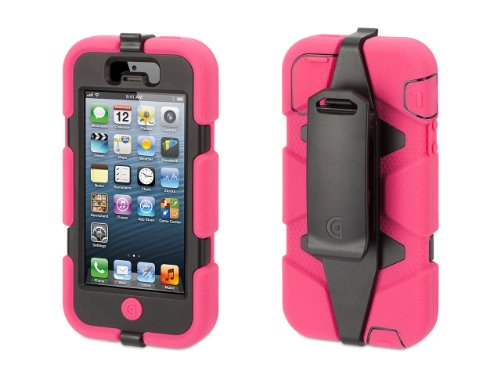 Griffin Survivor All-Terrain Rugged Case for iPhone 5/5S, iPhone SE, Pink/Black (Iphone 4 Navy Seals Case compare prices)