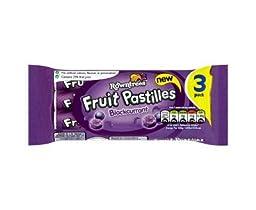Rowntrees Fruit Pastilles Blackcurrant 3 pack x 4 (12 Tubes total)