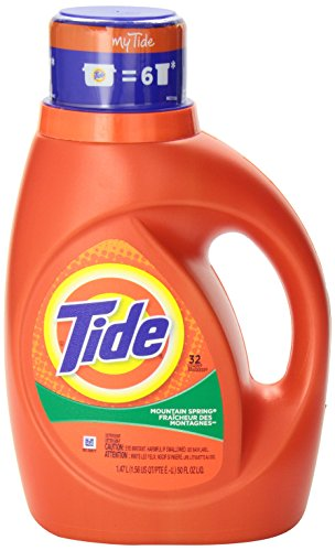 Tide 2x Ultra Liquid Laundry Detergent Mountain Spring 6x50oz