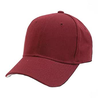 decky plain solid fitted baseball cap maroon size 7 3 8
