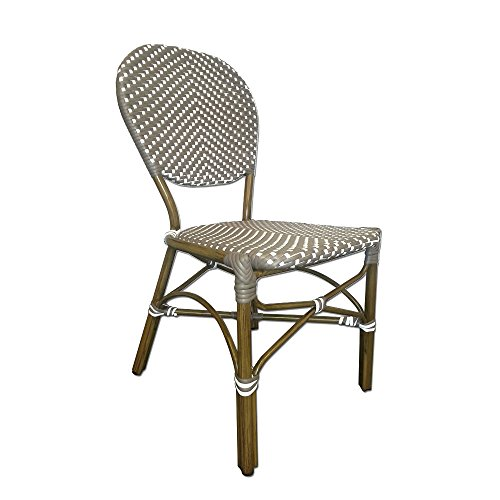 Table In A Bag CBCGW All Weather Wicker French Caf Bistro Chair With Aluminu