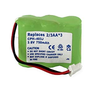 Southwestern Bell FF670 Cordless Phone Battery 1X3-2/3AA/J - 3.6 Volt, Ni-MH 750mAh - Replacement Battery