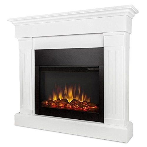 Real Flame 8020E-W Crawford Electric Fireplace, White (Real Flame Fireplace compare prices)
