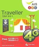 【AIS】タイ プリペイド SIM7日間 データ通信定額 100バーツ分無料通話つき