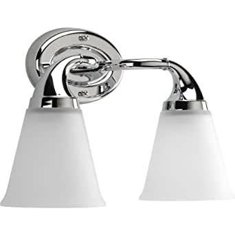 Progress Lighting P2759-15 2-Light Bath Which Mounts Up Or Down, Polished Chrome - Vanity ...