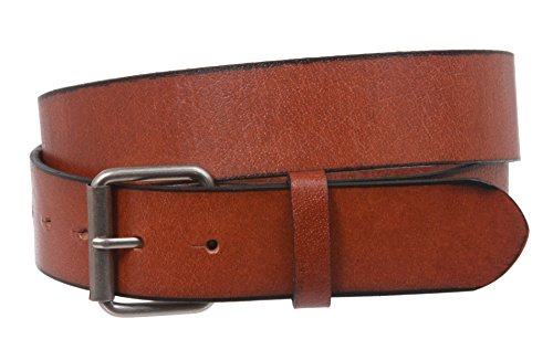 Vintage Genuine Soft Hand Oil-Tanned Leather Snap on Buckle Belt Size: L - 39 Color: Light Brown