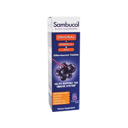 Sambucol Immune+Vit C And Zinc Effervescent Tablets - 15 Ea