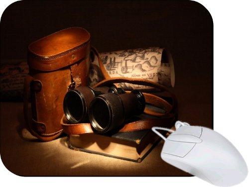 Rikki Knighttm Vintage Old Binoculars With Bag Lightning Series Gaming Mouse Pad