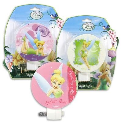 Disney Tinkerbell Tink Tinker Fairy Bell Night Light - Assorted Styles