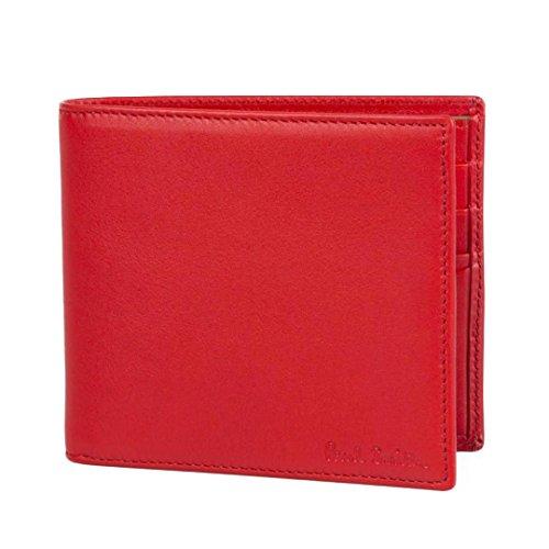 Paul Smith Men's-Portafogli in pelle, realizzata a mano, colore: Rosso