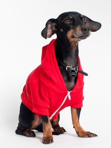 American Apparel - Felpa con cappuccio - Abbigliamento - Donna rosso 10