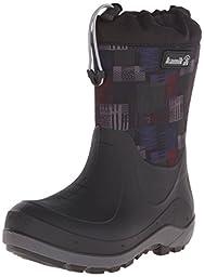 Kamik Stormin 2 Jaywalk Snow Boot (Little Kid/Big Kid), Black/Red, 12 M US Little Kid