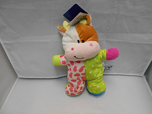 Beverly Hills Plush Beanie Baby Rattle Cow
