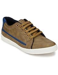Peddeler Men's Beige Sneakers Shoes