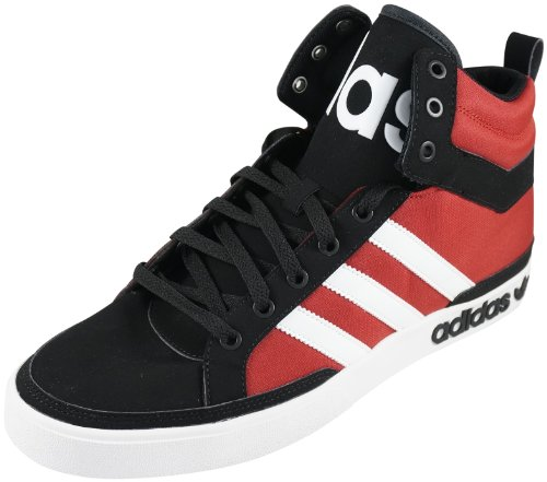 adidas Adidas Top Court Big Adi Das Black White Light Scarlet Basketball Shoes Men's 8.5