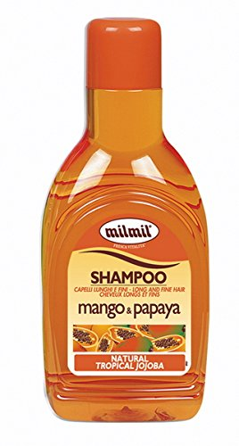 Shampoo Mango e Papaya Tropical Jojoba 1000 ml Capelli Lunghi E Fini