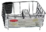 Rubbermaid Antimicrobial Large Dish Drainer, Black
