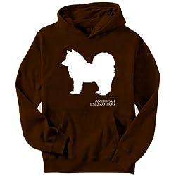American Eskimo Dog STENCIL / CHEES Mens Hoodie