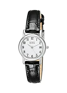 "Citizen Women's EW1270-06A ""Eco-Drive"" Stainless Steel and Black Leather Watch"