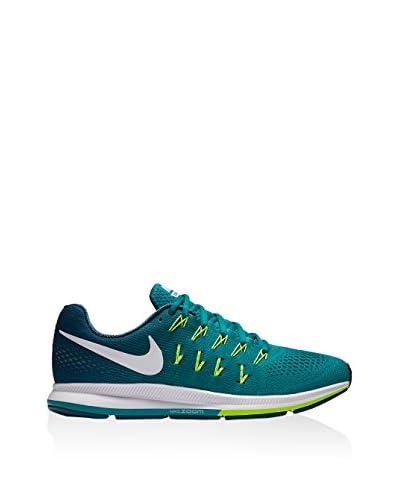 Nike Zapatillas Air Zoom Pegasus 33 Blanco / Azul / Lima EU 45 (US 11)