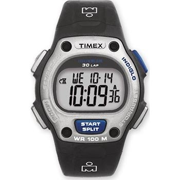 Timex 5B112 Data Link PDA Sport Watch with Black Leather Strap; USB Cable and PC Software Included