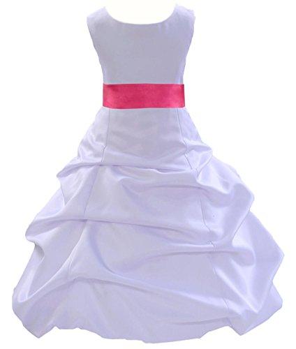 Wedding Pageant White Flower Girl Dress 806s1 6