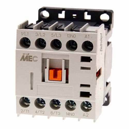 Miniature Power Contactor 3 Pole, 20Amp 600V, 12VDC Coil UL 508 12V (12v Coil Contactor compare prices)
