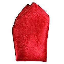 Sorella'z Satin Red Pocket Square for Men's
